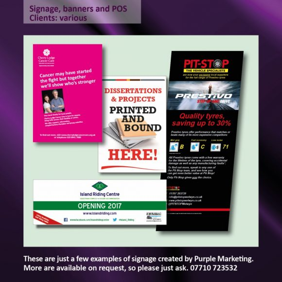 Signage, Banners and POS