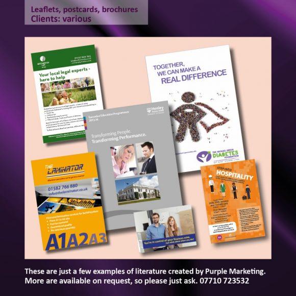 Leaflets, Postcards, Brochures